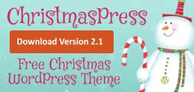 Download ChristmasPress - free WordPress theme
